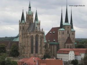 2015 12 06 Blick vom Paulsturm auf Serverinkirche und Erfurter Dom
