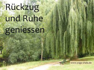Rückzug und Ruhe geniessen im Yoga-Shala Erfurt