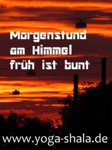 2016 orangene Morgenstunde im Yoga-Shala Erfurt